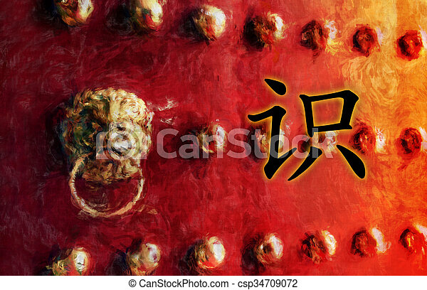 Knowledge Chinese Character Symbol Writing As Painting Picture