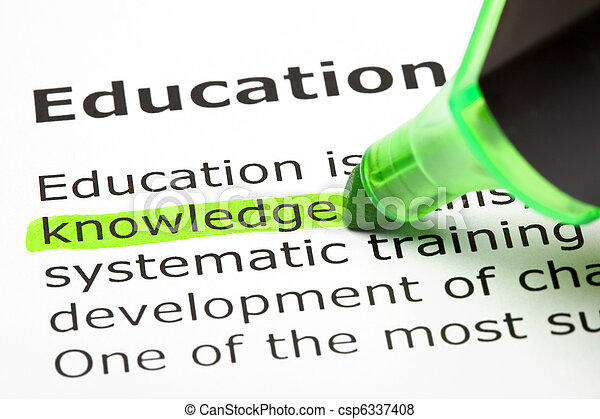'Knowledge' highlighted in green - csp6337408