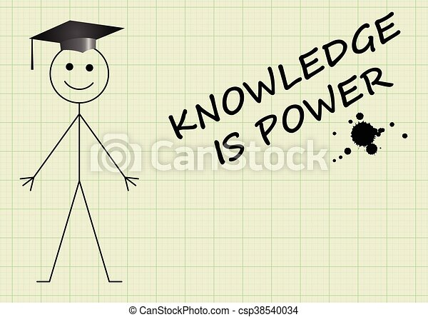 Knowledge is power - csp38540034