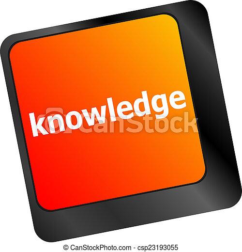 knowledge., simboli, chiave calcolatore, tastiera, ingresso - csp23193055