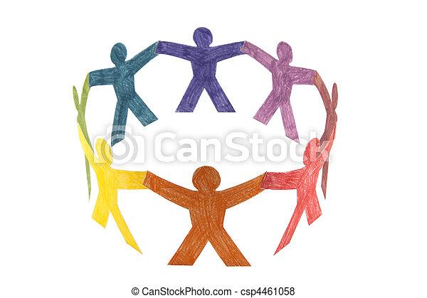koło, barwny, ludzie - csp4461058