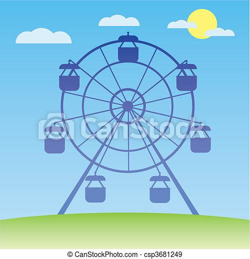 koło, ferris, wektor, illustration. - csp3681249