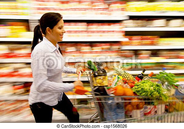 koš, eny shopping, supermarket - csp1568026