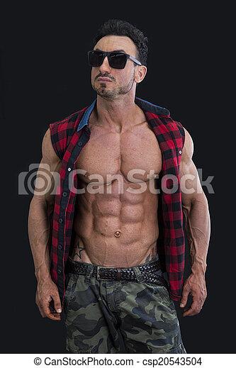 fotografie nahého mužského modelu