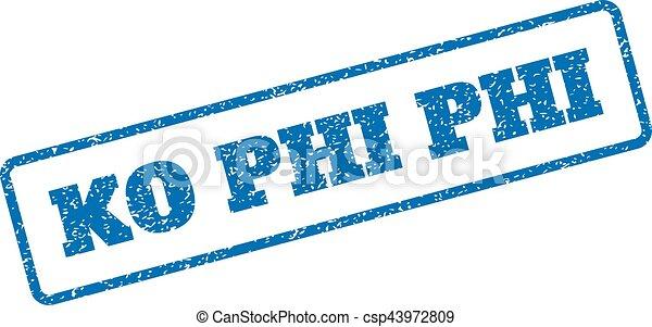 Ko Phi Phi Rubber Stamp - csp43972809