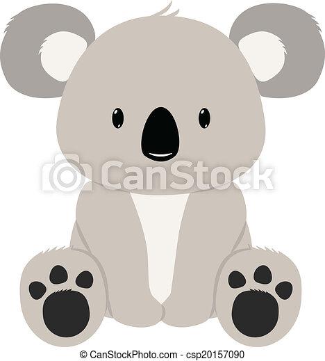 koala bear baby koala bear seated rh canstockphoto com cute koala bear clip art koala bear clip art black and white