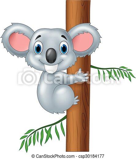Madre bambino koala cartone animato clipart k fotosearch
