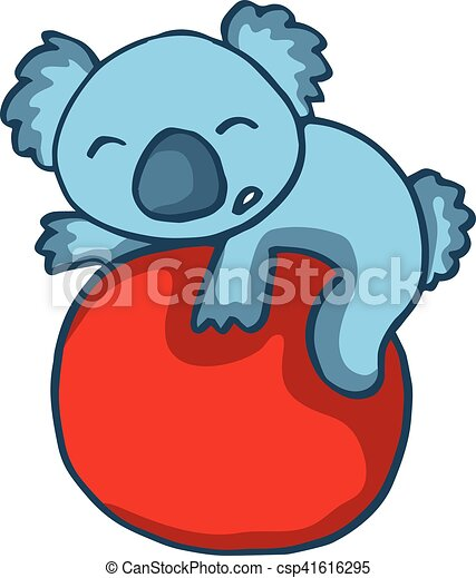 koala playing big ball cartoon vector illustration eps vectors rh canstockphoto ca cute koala bear clipart