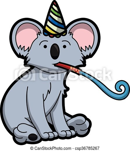 koala using birthday party costume clip art vector search drawings rh canstockphoto com koala clipart cute koala clipart free