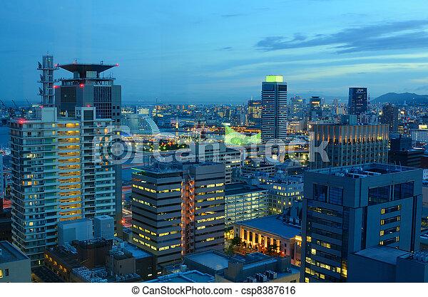 Kobe, Japan Cityscape - csp8387616
