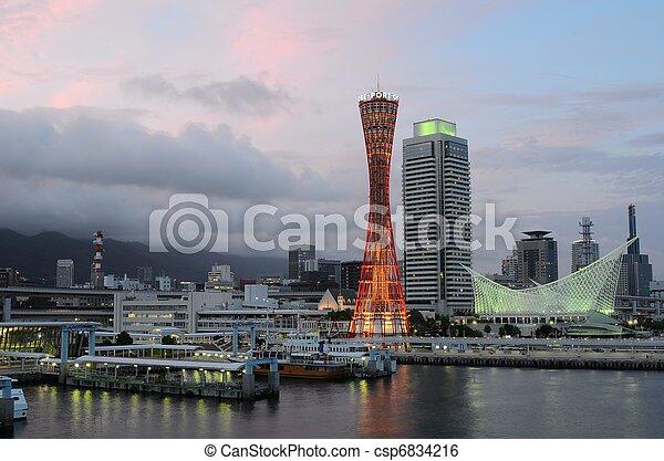 Kobe, Japan Skyline - csp6834216