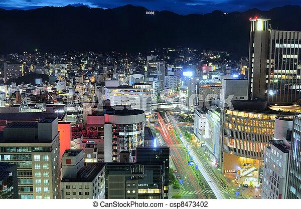 kobe japan skyline - csp8473402