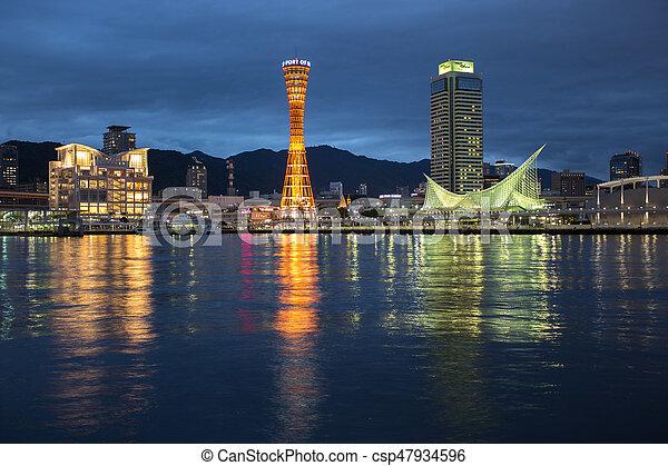 Kobe port tower, Osaka Japan - csp47934596