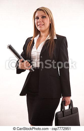 kobieta handlowa, hispanic, dwudziestki, pociągający, ładny, profesjonalny - csp7772951