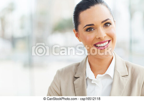 kobieta interesu, nowoczesny, biuro - csp16512118