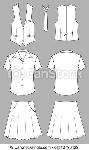 kobieta, kasjer, albo, sprzedawca, odzież - csp10798439