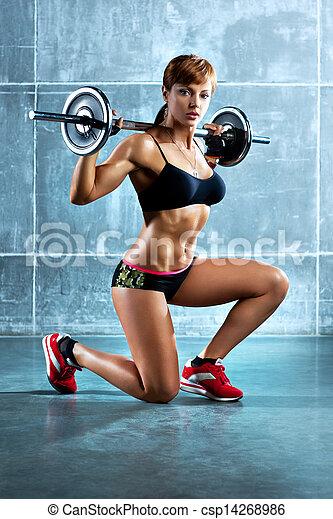 kobieta, młody, lekkoatletyka - csp14268986