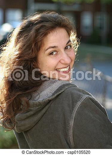 kobieta, młody, szczęśliwy - csp0105520