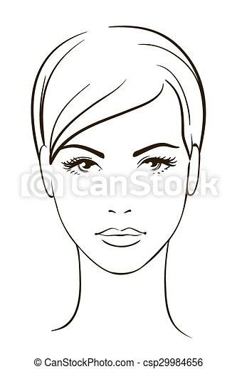 kobieta, młody, twarz - csp29984656