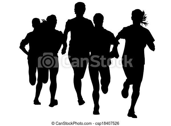 kobieta, pasaż, lekkoatletyka - csp18407526