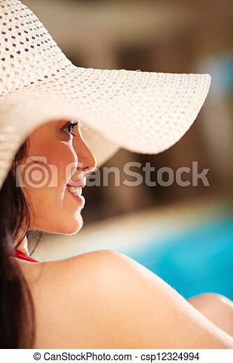 kobieta, pociągający - csp12324994