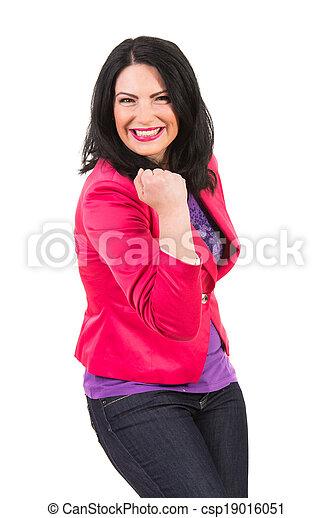 kobieta, podniecony, przypadkowy - csp19016051