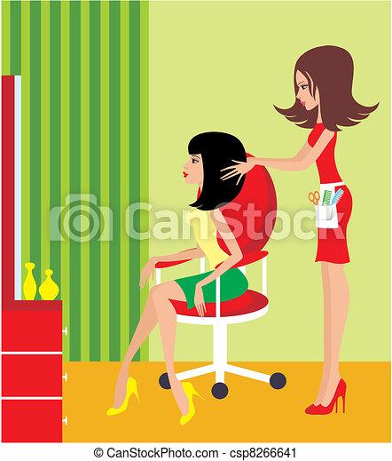 kobieta, salon., piękno - csp8266641