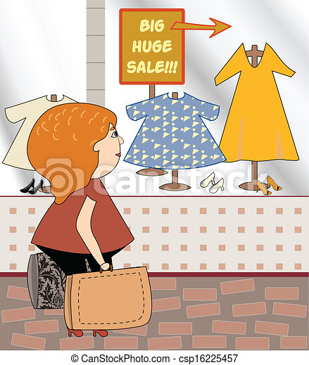 kobieta shopping - csp16225457