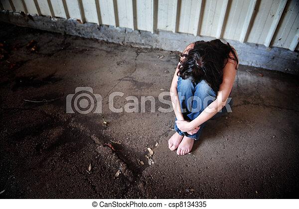 kobieta, smutny - csp8134335