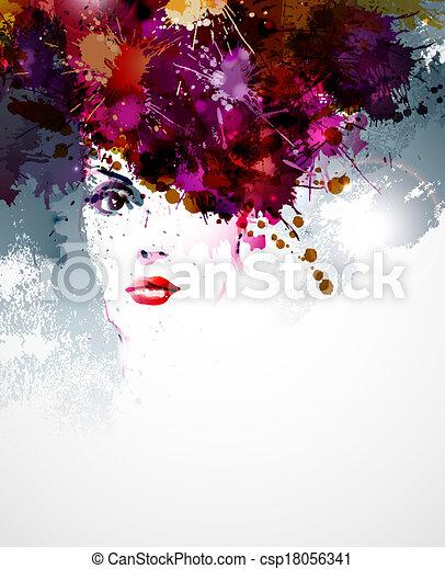 kobieta twarz - csp18056341
