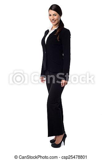 kobieta, zbiorowy, pociągający, młody - csp25478801