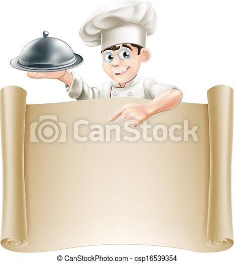kock, meny, baner - csp16539354