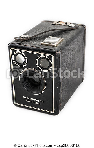 Kodak Brownie Camera Isolated