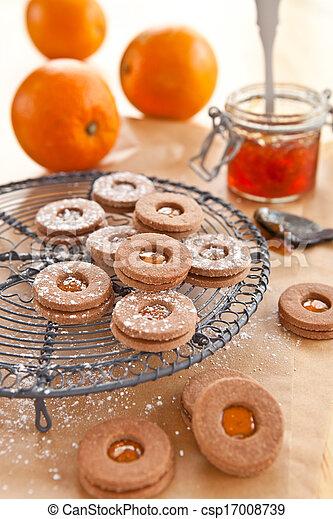 koekjes, jam-filled - csp17008739