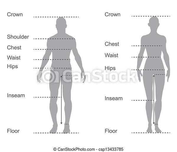 Häufig Koerper, maße, diagramm, tabelle, weibliche , maß, mann, kleidung YH21