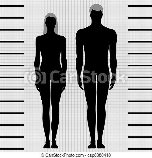 Männliche und weibliche Körpervorlagen - csp8388418