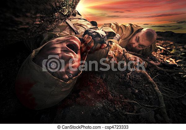 Die Leiche des Soldaten - csp4723333