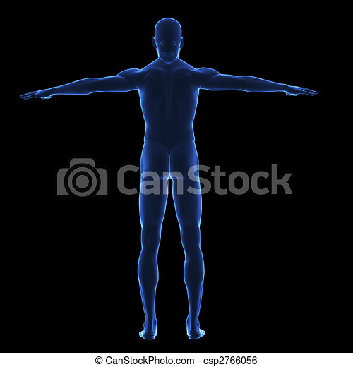 koerper, x, menschliche , strahl - csp2766056