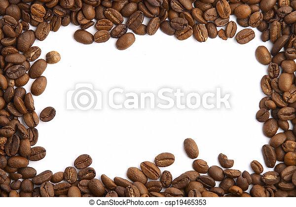 koffie boon, frame - csp19465353