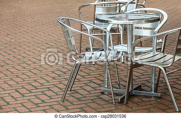 Stoelen Voor Buiten.Koffie Buiten Restaurant Stoelen Open Lucht Koffiehuis Tafel