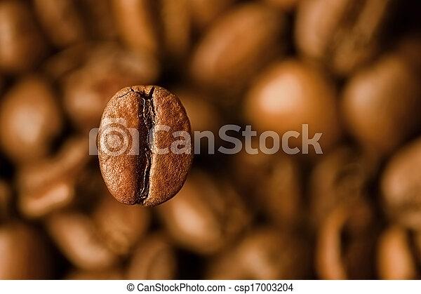 koffie, closeup, boon - csp17003204