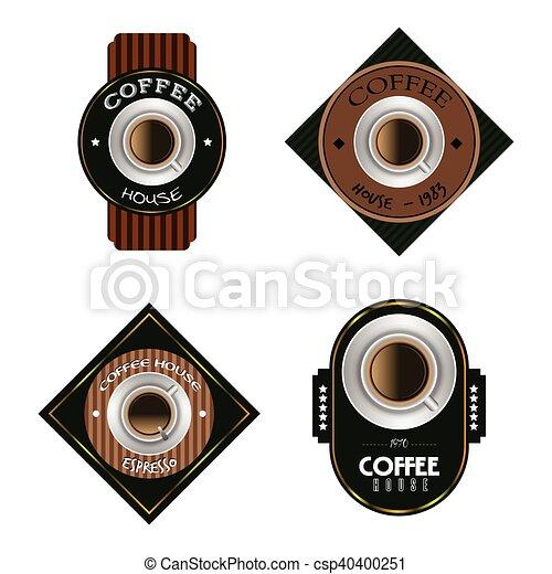koffie, etiketten - csp40400251