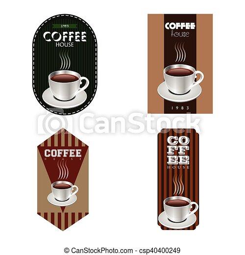 koffie, etiketten - csp40400249