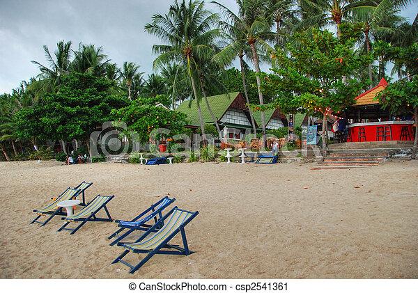 La playa Lamai, koh samui, Tailandia, agosto de 2007 - csp2541361