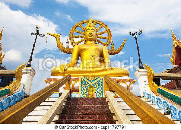 Gran estatua de Buda en Koh Samui, Tailandia - csp11797791