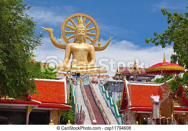 koh, grande buddha, statua, tailandia, samui - csp11794608