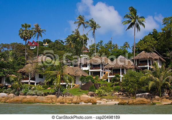 Casa de playa tropical en la isla koh samui, Tailandia - csp20498189