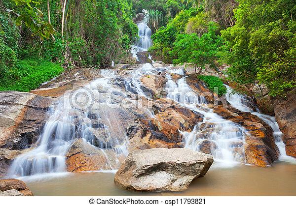 Na muang 2 cascada, koh samui, thailand - csp11793821