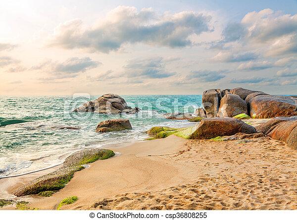Mañana en la isla de Koh Samui - csp36808255