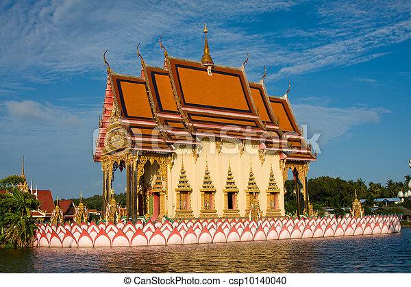 koh samui, isola, buddhistic, tailandia, tempio - csp10140040